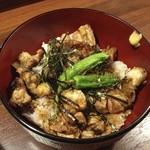 炭火焼鳥ひでちゃん - 炭火焼きとり丼(650円)
