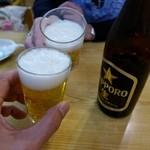 丸惣 - まずはビールで