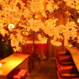 室内はまるで森のよう!?な和食店