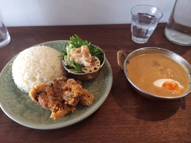 グナグナカリー - 三河鶏と筍のタイカレーセット☆