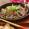 牛肉とゴーヤの鉄板焼き