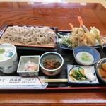 そば処 はやし - 料理写真:せいろ天ぷら蕎麦・・お通し2品付