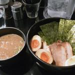 麺や 楓雅 - 特製豚骨魚介つけめん+中盛