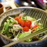 福笑 - 有機野菜のサラダ