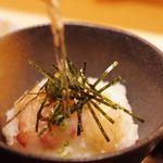 日本酒庵 吟の杜 - 二味鯛膳(お茶漬け)