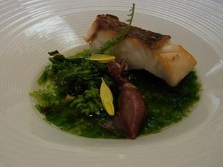 オトワ レストラン - 和歌山県産の真鯛と鹿沼産の菜の花、沼津産生海苔のナージュ