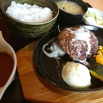 みさき食堂 - ハンバーグランチ