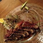 ラキュイエール - 宮崎県産初ガツオのカルパッチョ ソースジャポネ(1,600円)2014年4月