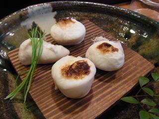 丸萬寿司 - 2014.4)フグの白子焼き