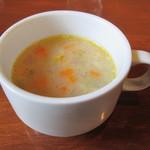 カフェ オトワヤ - ランチセット(1000円)のスープ