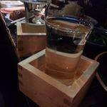 26246198 - 日本酒はグラス提供です。8勺くらいかな?