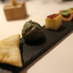 Le Temps Perdu - チーズのリソル、ブータンのシュー、イベリコの生ハム