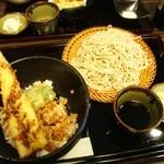 26246819 - 穴子丼+そば(せいろ)