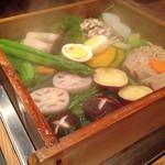 ステーキハウス 村岡 - せいろ蒸しの野菜