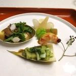 花の木 - 料理写真:前菜 木の芽和えなど
