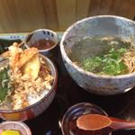 そば処 唯 - 料理写真:そばと天丼セット