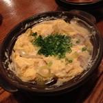 味家 - ネギとマグロの鍋卵とじ(1,240円)2014年4月