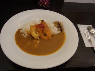 風我亭 - ココナッツ風味の開港魚介カレー880円2014年4月13日風我亭