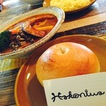 CURRY&BAGEL Hakoniwa - ベーグルが美味しいカフェでベジタブルスープカレー とろみスープ♪ライスの代わりにベーグルで☻もちもちうまし!