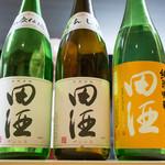 桜あん - 日本酒 田酒飲み比べ