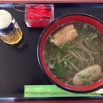 レストラン はまゆう - 月桃そば(550円)。