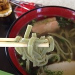 レストラン はまゆう - 麺が緑色なのは月桃を練り込んでるから?