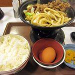 すき家 - 牛すき鍋定食580円(ご飯大盛り)