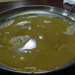 繁ちゃん屋 - 豚骨スープで割って......