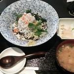 天の魚 - ランチ 釜揚げしらす丼 2014.4