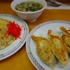 宝家 - 料理写真:餃子と半炒飯