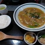 大にし - 松阪牛肉カレーうどん@1,000+小ライス@100