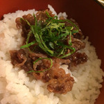 Akasakaajisai - アサリ煮ののったご飯♪美味しい