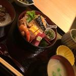 Akasakaajisai - 茶碗蒸しや香の物もついてきます。