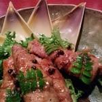 福 - 新タケノコの豚巻きソテー 山椒風味