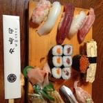 力寿司 - 握り7貫に巻物…プラス好みの4貫