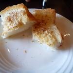 だるま珈琲 - 朝のトーストセット アーモンドトースト 自家製で食べやすくって、写真を待ってくれませんでした。