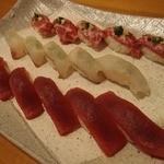 肥後勝 - お寿司の3種盛り。