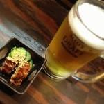 宇奈とと - 生ビールセット 350円