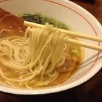 花壱 - 1日限定10食の鶏塩ら~麺(750円)麺リフト