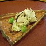 千松しま - 焼き蟹、松茸、銀杏。