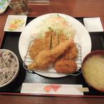 清まる - 【粋な豚カツMIX定食@1000円】