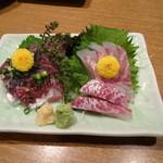 海坊主 - 刺身(鯛と鰺)