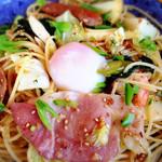 五右衛門  - 春のおすすめ  春野菜の具だくさんスパゲッティー 醤油バター風味