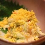 博多ふじ本 - 「黄身酢あえ」クラゲも入っており、コリコリした食感と、やさしい味わいを感じられる一品です。