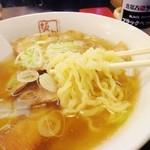 喜多方ラーメン 坂内 - 平打縮れ麺