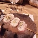 炭心 - ささみ紫蘇チーズ巻き