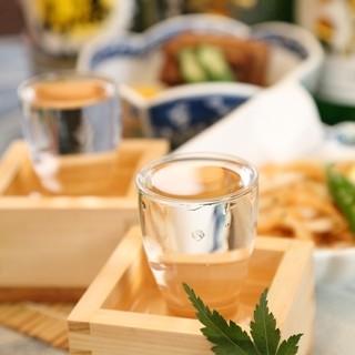 料理に合う日本酒の数々。飲み放題では日本酒充実飲み放題も☆