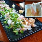 鶏料理専門店みやま本舗 - 黒さつま鶏の炙りタタキ