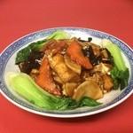 周香港飯店 - 揚げ豆腐と豚肉の辛味噌煮