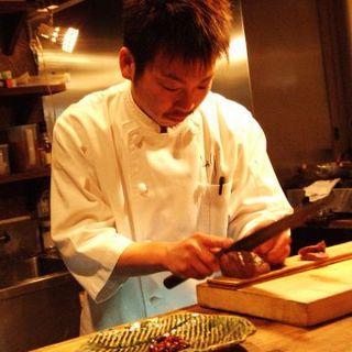 とろりの顔でもある青木オーナーの料理はまさに絶品